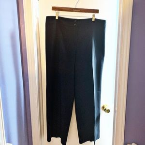 ARMANI COLLEZIONI MIDNIGHT BLUE WIDE LEG TROUSERS